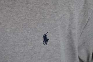 POLO RALPH LAUREN gray golf sport navy pony mens casual polo shirt L