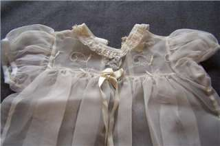 of Large Antique Vintage Doll Baby Clothes Gowns Dresses Slips Socks
