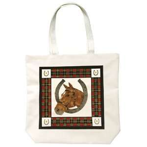 Alices Cottage Horse in Horsehoe Tote Bag