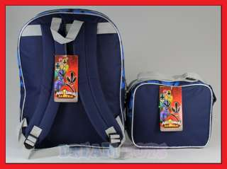 16 Power Rangers Samurai Backpack and Lunch Bag Set L