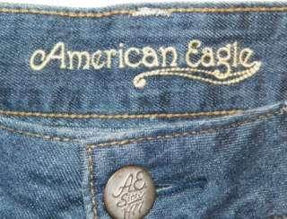 Womens AMERICAN EAGLE Cuffed Denim Jean Shorts SEXY Shorts Size 4
