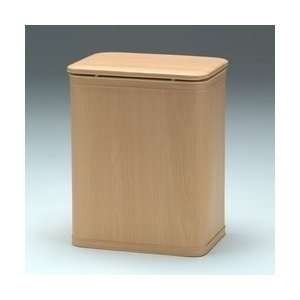 Wood Grain Vinyl Hamper with Bag: Home & Kitchen