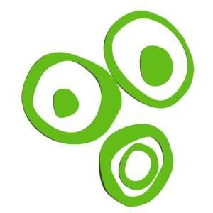 Lime Funky Wall Vinyl Sticker Decal Circles Rings & Dots