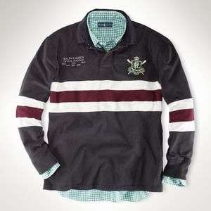 Mens POLO by RALPH LAUREN Vintage Rugby Shirt Pullover Sweatshirt Sz.L