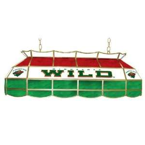 NHL Minnesota Wild Stained Glass 40 inch Lighting Fixture Electronics