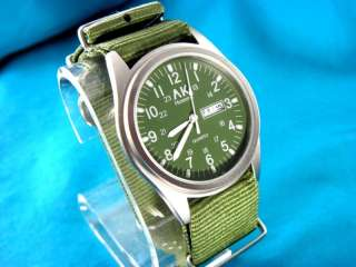 MENS AK Homme LARGE MILITARY STYLE 24HR WATCH G 10 BAND