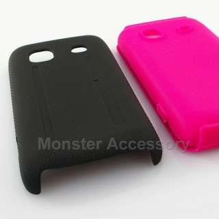 Black Pink Dual Flex Hard Case Samsung Galaxy Prevail