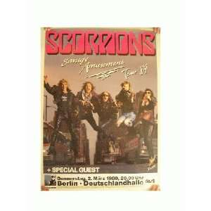 The Scorpions German Concert Tour Poster 1989 Everything
