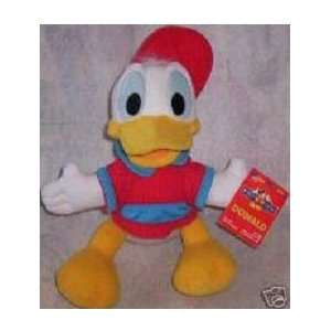 Disney Donald Duck 12 Plush Doll ~ in Red Baseball Cap Toys & Games