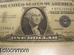 US 1957A 1957 A $1 ONE DOLLAR BILL SILVER CERTIFICATE STAR NOTE BLUE