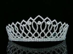 Pageant Wedding Bridal Crystal Tiara Crown 8372