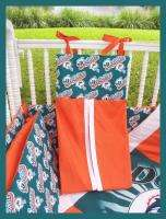 NEW baby crib bedding set made w/ MIAMI DOLPHINS fabric