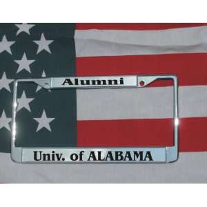 University of Alabama Chrome Laser Engraved License Plate
