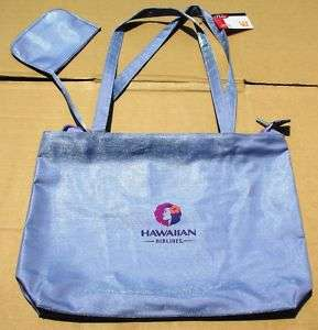 VINTAGE HAWAIIAN AIRLINES OFFICIAL LOGO TRAVEL PURSE SHOULDER CARRY ON