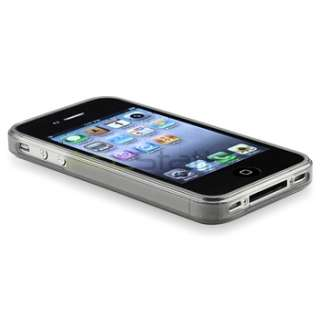 Clear Frost Smoke TPU Gel Rubber Skin Case Cover+PRIVACY FILTER for