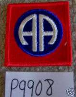 US ARMY 82nd AIRBORNE DIVISION SHOULDER PATCH P9908