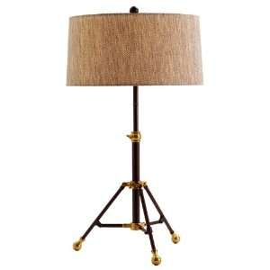 Samara Brass/Charcoal Adjustable Table Lamp   49887 951 Home