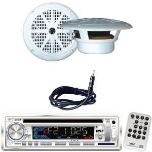 Marine Radio Receiver, Speaker and Cable Package   PLCD36MRW AM/FM