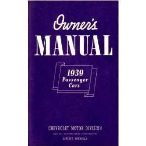 1939 CHEVROLET Full Line Owners Manual User Guide