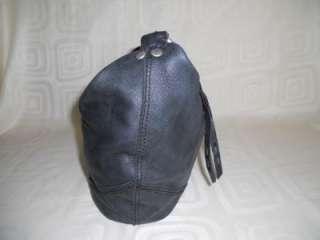 Lucky Brand Large Black Leather Hobo Shoulder Bag Crossbody Handbag