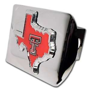 State Shape Emblem NCAA College Sports Trailer Hitch Cover Fits 2