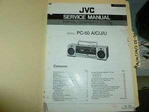 JVC PC 50 Short Wave Radio  1985  ORIG SERVICE MANUAL |