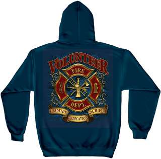 FIREFIGHTER FIRE DEPARTMENT TRADITION DEDICATION PULL OVER HOODY ADULT