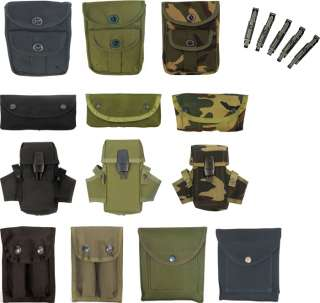 Military Army Style Gun AMMO POUCHES & CLIPS