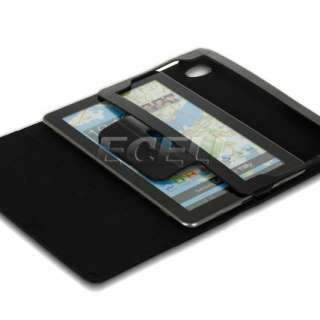 BLACK BOOK STYLE LEATHER CASE STAND COVER FOR SAMSUNG P6800 GALAXY TAB