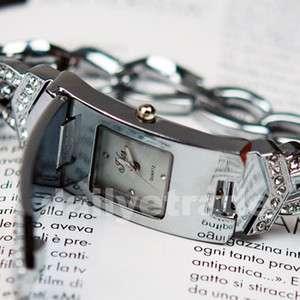 Fashion Crystal Cross Silver Bracelet Bangle Womens Ladies Dress