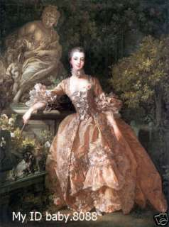 high quality art oil painting Madame de Pompadour 24x36inch