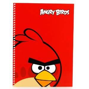 10 in by 7.5 in Angry Bird Note Book   Red Bird