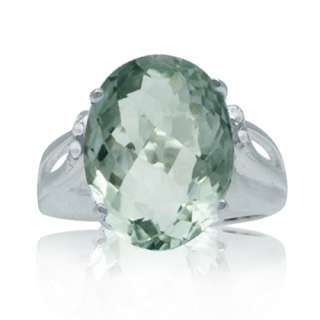 14ct. HUGE Natural Green Amethyst & White Topaz 925 Sterling Silver