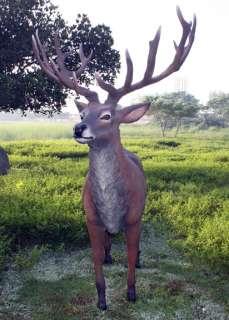 Red Stag Deer Reindeer Standing Life Size Statue Yard Decor Prop