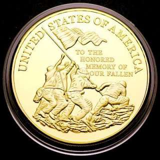 Marine Corps Gold Plated Challenge Coin USMC 80#