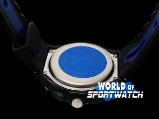 OHSEN Man Dual Time Blue Waterproof Sports Stop Watch
