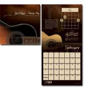 Guitar Chords 2010 Color 16 Month Wall Calendar: Home