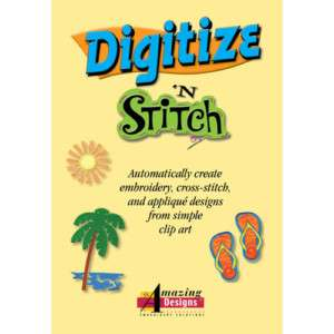Amazing Designs DIGITIZE N STITCH Embroidery Software