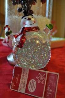 HALLMARK 2011 Lighted Snowman Snow Globe NWT