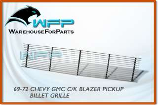 69 70 71 72 Chevy C/K Pickup PU Billet Grille Grill
