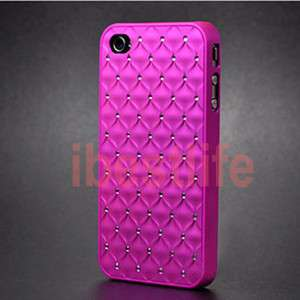 Pink Luxury Star Bling Crystal Diamond Hard Case Cover For Apple