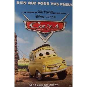 CARS   ADVANCE STYLE C (LARGE   FRENCH   ROLLED) Movie Poster