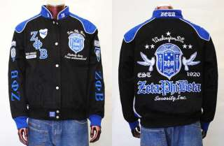 ZETA PHI BETA Black Long Sleeve Jacket S 4XL SORORITY