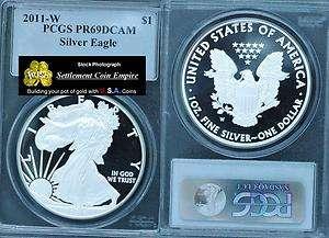 2011 W American Silver Eagle PCGS PR69 Dcam Blue Label