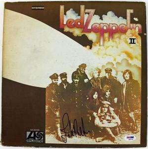 JOHN PAUL JONES LED ZEPPELIN SIGNED ALBUM COVER W/ VINYL PSA/DNA