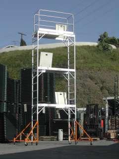 Aluminum Scaffold Rolling Tower 17 H Gaurd Rail U Lock