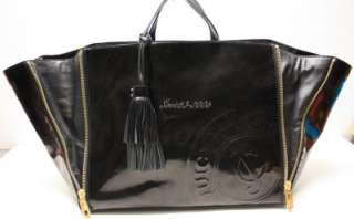 JUICY COUTURE Patent Leather Tassel Travel Bag   NWOT