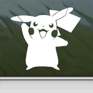 Pokemon White Sticker Pikachu Card Game Laptop Vinyl Window White