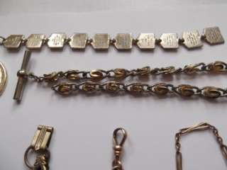 Huge Victorian Vintage Watch FOB Lot ~Gold ~Sterling~SOB CO AAG CO