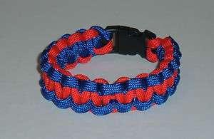 University of Kansas Jayhawks Color Paracord Survival Bracelet